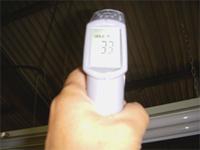 施工後の屋根は33℃です。 マイナス21℃下がりました。