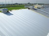 【アフター】 屋根材はスレート用カバールーフです。