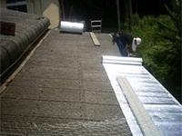 【2】 遮熱工法によるリフレテクティックス(遮熱材)を施工。