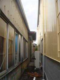施工前の外壁はスレートでした