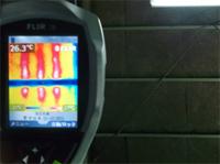 施工前の屋根裏面温度は26.3℃でした