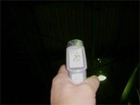 施工後の屋根裏温度を測定。