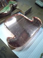 (9)鬼瓦が銅版で包まれました。