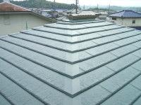 【アフター】 金属屋根重ね葺き工法。