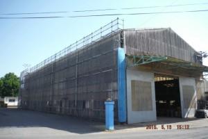 仮設足場の設置