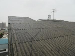 既存のスレート屋根の写真です