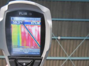 未施工箇所の屋根裏面温度は59.3℃でした
