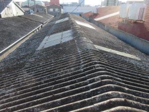 既存屋根はスレート屋根でした