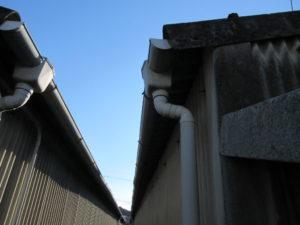 施工前の軒樋の写真です
