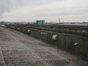 施工前スレート屋根の写真です
