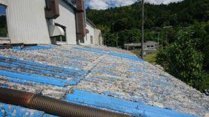 既存の庇はスレート屋根でした