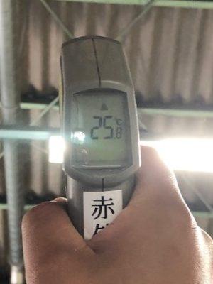 施工後の屋根裏面温度は25.8℃でした