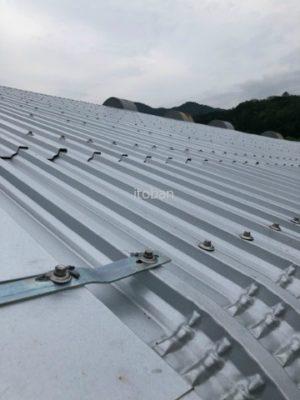 屋根工事完了の写真