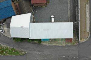 ドローンを使用し施工後の屋根を撮影しました