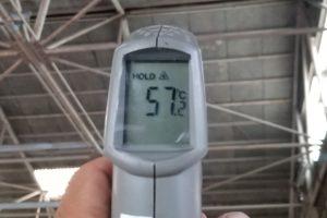 未施工屋根裏面温度は57.2℃でした