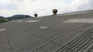 施工前スレート屋根です