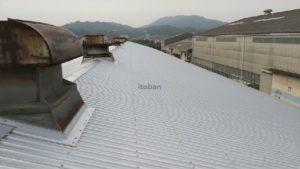 施工後のガルバリウム鋼板屋根の写真です