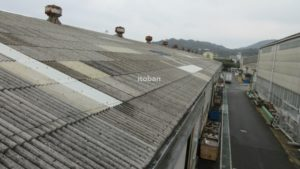 施工前はスレート屋根でした