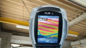 未施工箇所屋根裏面温度は50.2℃です