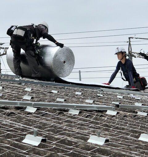 三重県四日市の食品工場にて暑さ対策工事スタートしました!