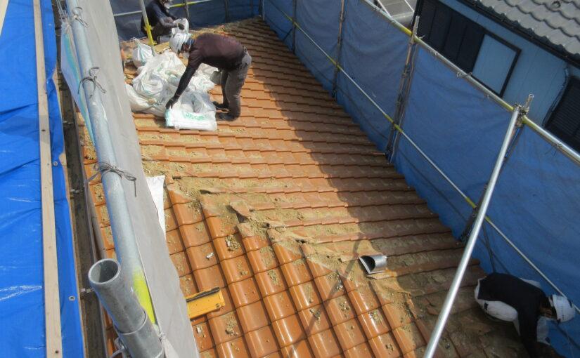 陶器瓦屋根のふきかえ工事|四日市市
